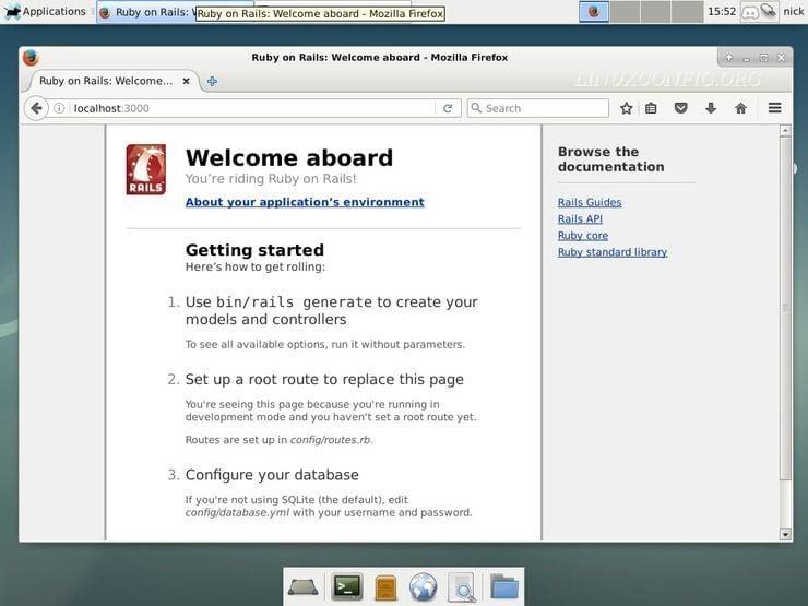 Ruby on Rails running on Debian Stretch