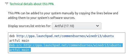 Ubuntu PPA deb listing