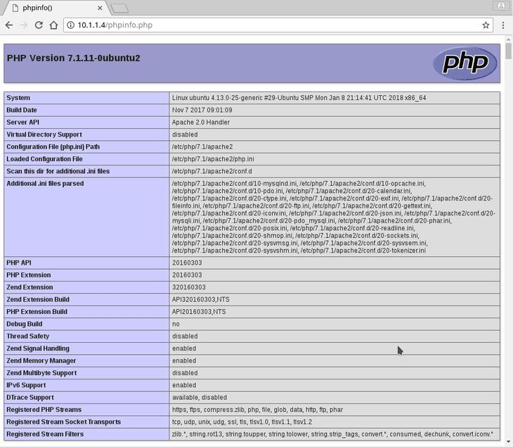 install lamp ubuntu 18.04