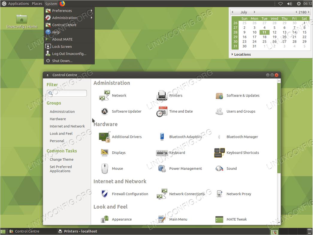 install ubuntu server GUI - Mate core