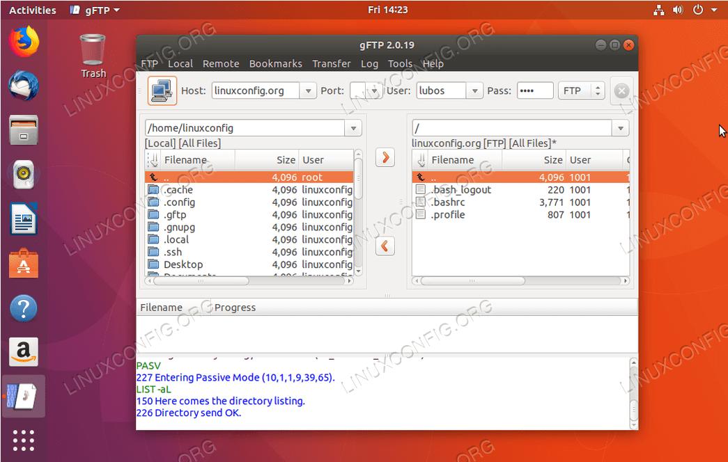ubuntu ftp client - gFTP