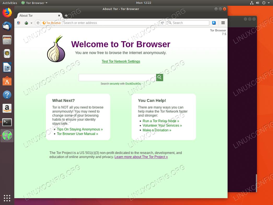 Tor Browser Test - Ubuntu 18.04