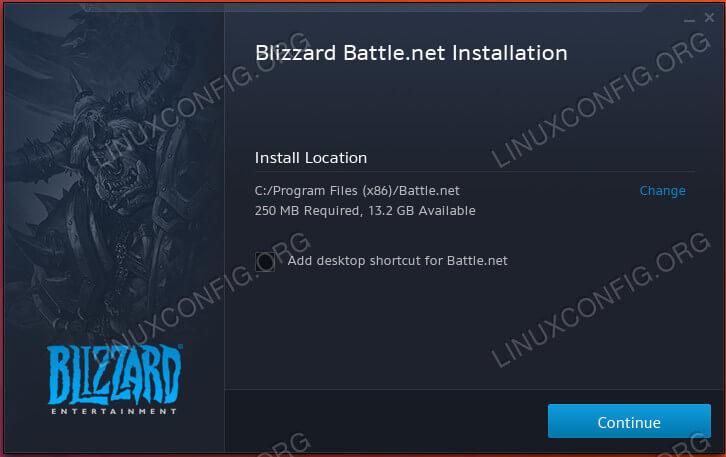 Start The Battle.net Install