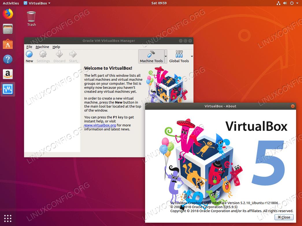 VirtualBox on Ubuntu 18.04 Bionic Beaver