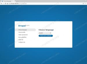 Install Drupal Ubuntu 18.04 - Select Language