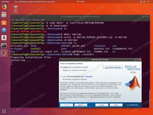 install matlab ubuntu 18.04 - select installation method