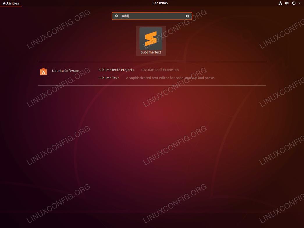 Start Sublime Text - Ubuntu 18.04