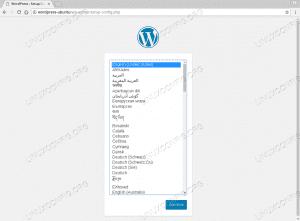WordPress Ubuntu 18.04 - Slelect Language