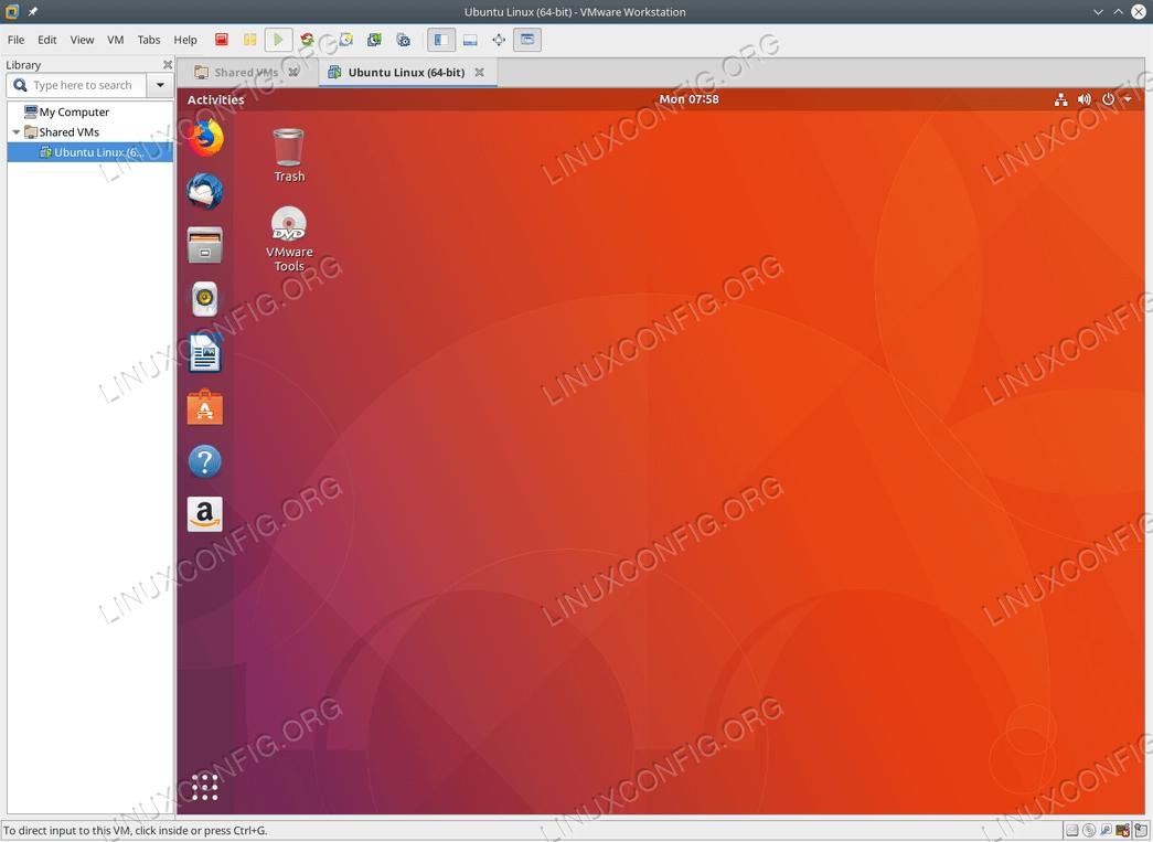 VMware Tools DVD virtual drive