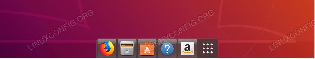 Unity backlit like Dock on default Ubuntu 18.04 Bionic Beaver Desktop.