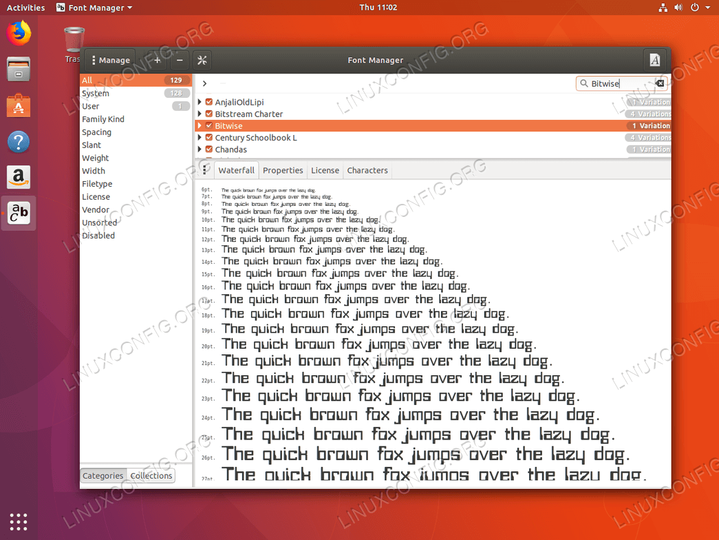 Install fonts Ubuntu 18.04 - Font installed