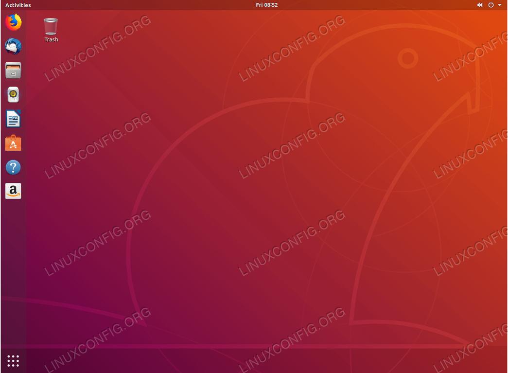 Full Gnome Desktop - Ubuntu 18.04