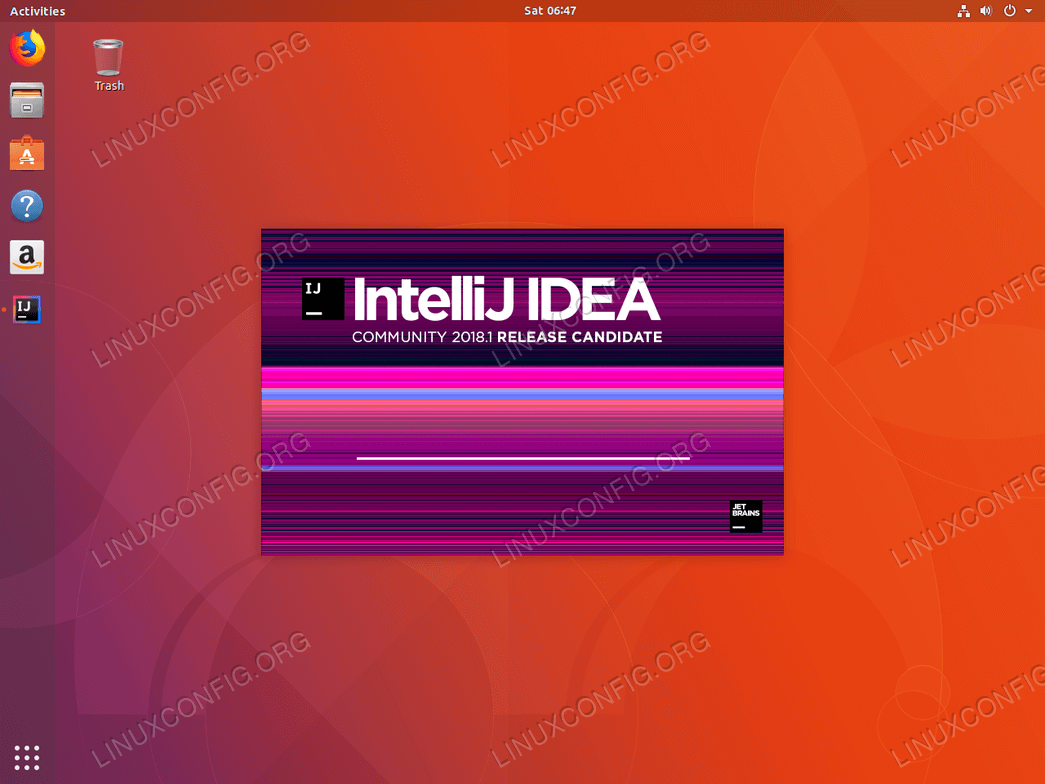 Install IntelliJ ubuntu 18.04 - Loading