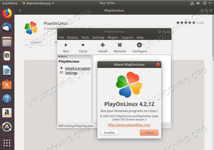 PlayOnLinux on Ubuntu 18.04