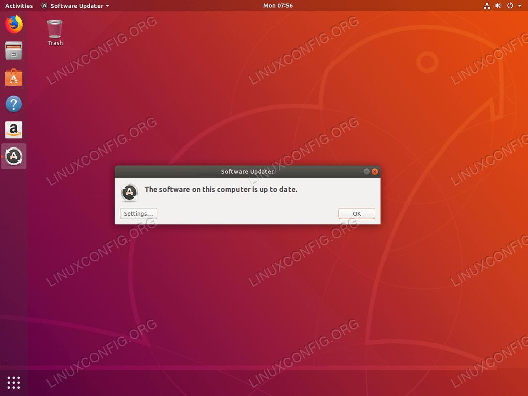 Ubuntu update - Ubuntu system is now updated