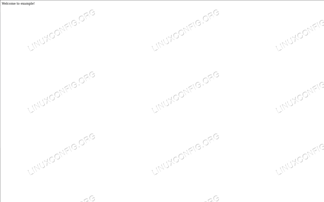 Example Virtualhost Index