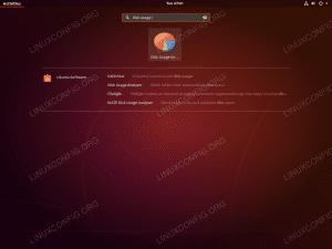 Start Disk usage analyzer - Ubuntu 18.04