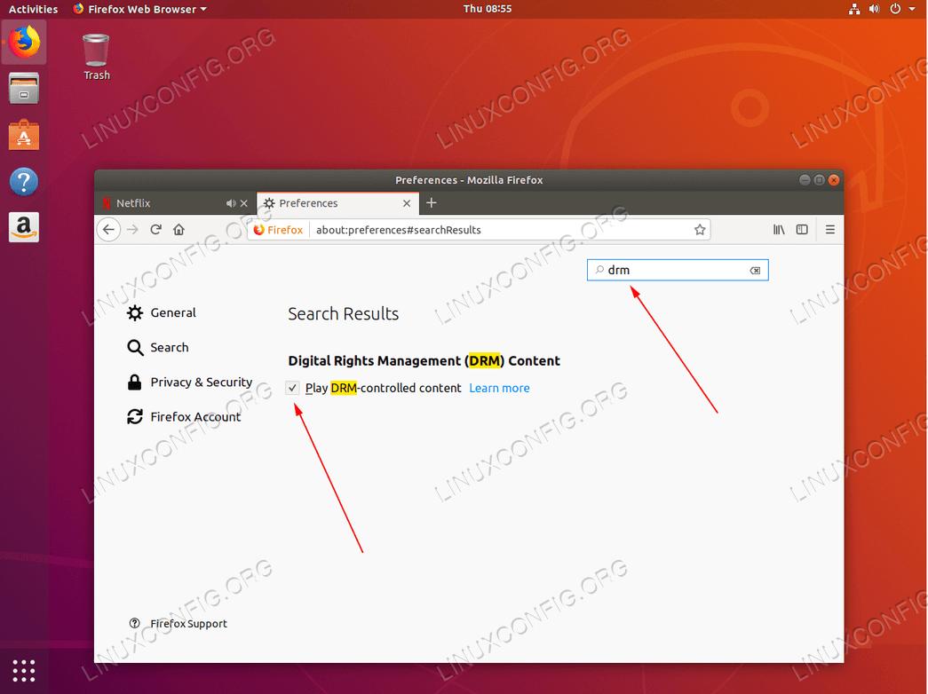 Enable Digital Rights Management on Ubuntu 18.04