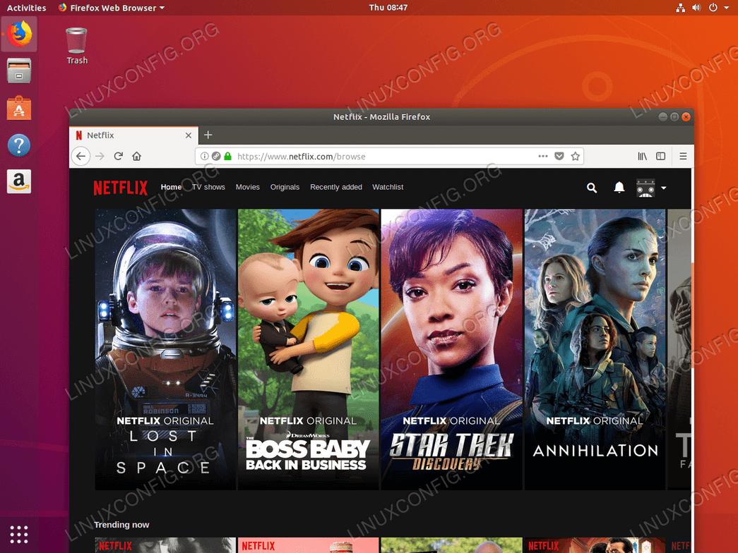 Watching Netflix on Ubuntu 18.04