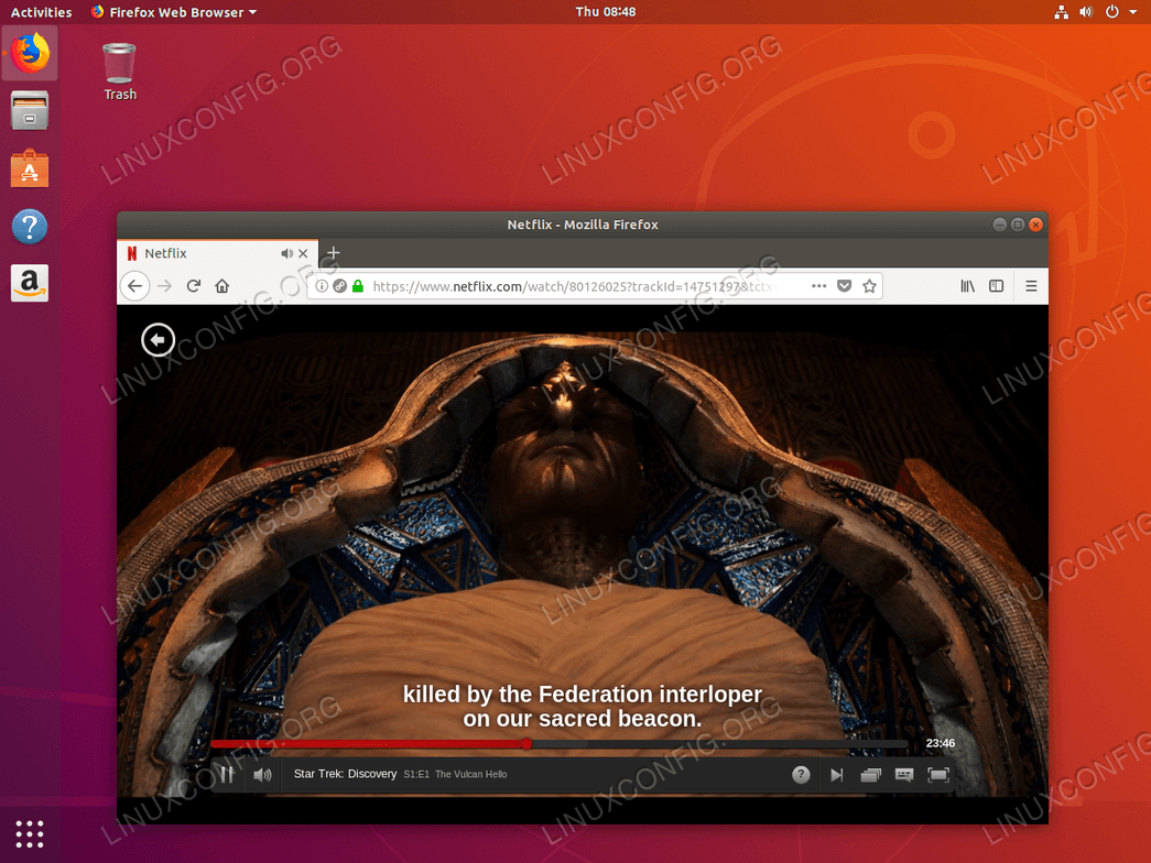 Watching Netflix on Ubuntu 18.04 Bionic Beaver Linux