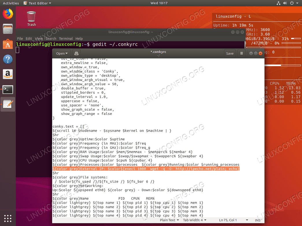 Retrieve external IP address feature