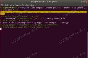 Install Laravel With Composer On Ubuntu 18.04