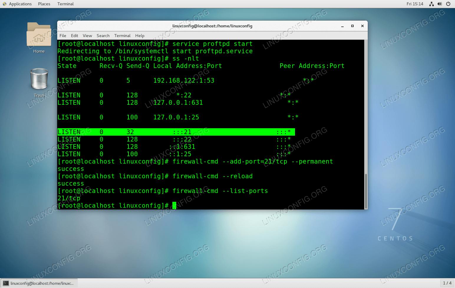 Configuring Basig FTP server using ProFTPD on CentOS 7
