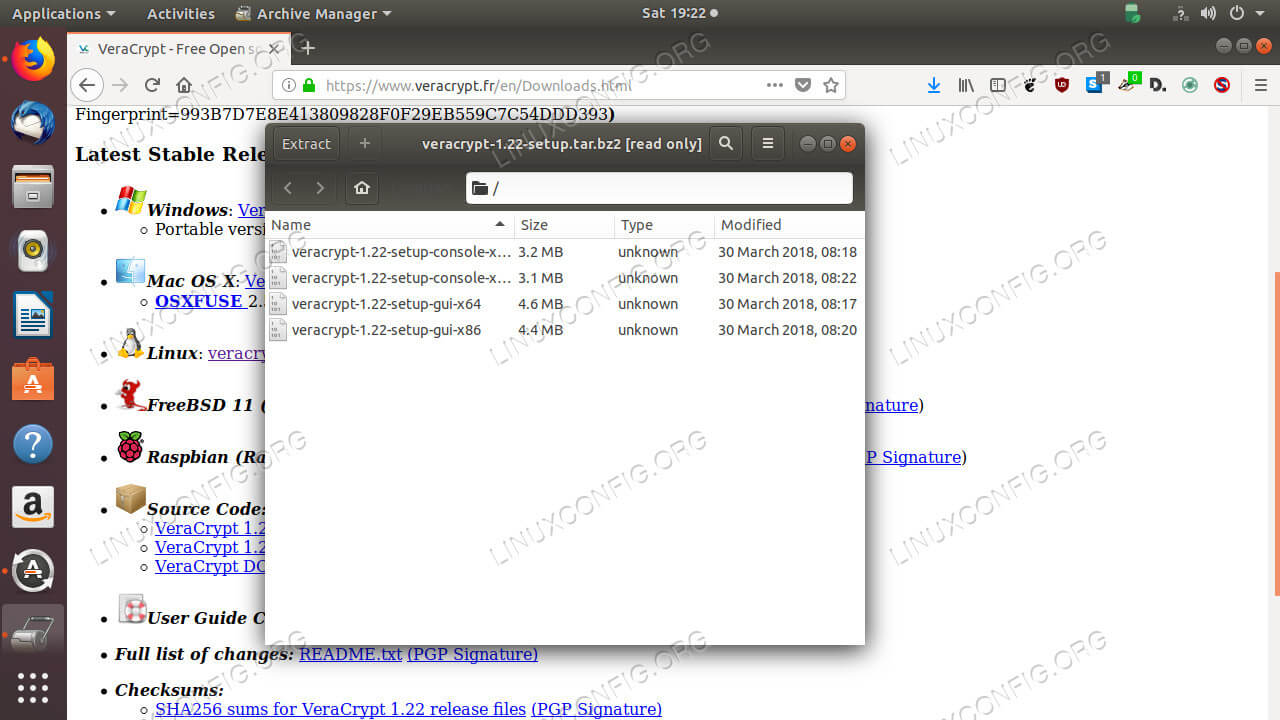Download and extract VeraCrypt
