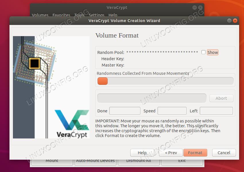 VeraCrypt format volume