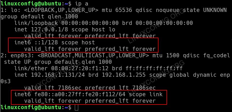 Ip version 6 enabled on Ubuntu 18.04 by default