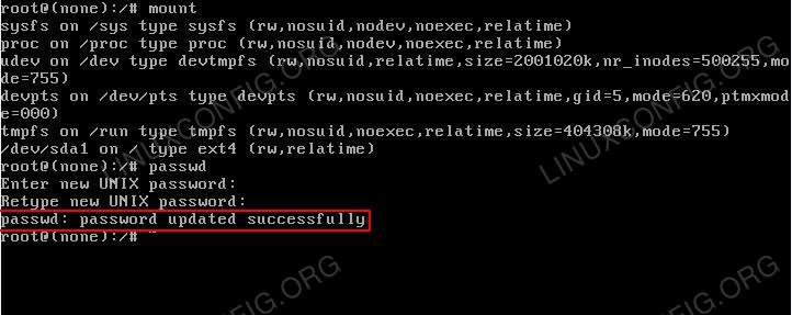Reset root password - kali linux