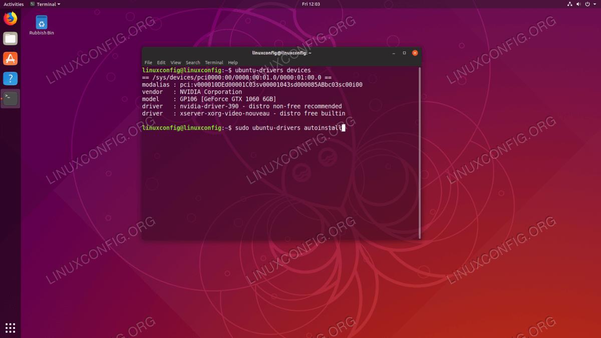 Automatic Nvidia Drivers Installation on Ubuntu 18.10 Cosmic Cuttlefish Linux