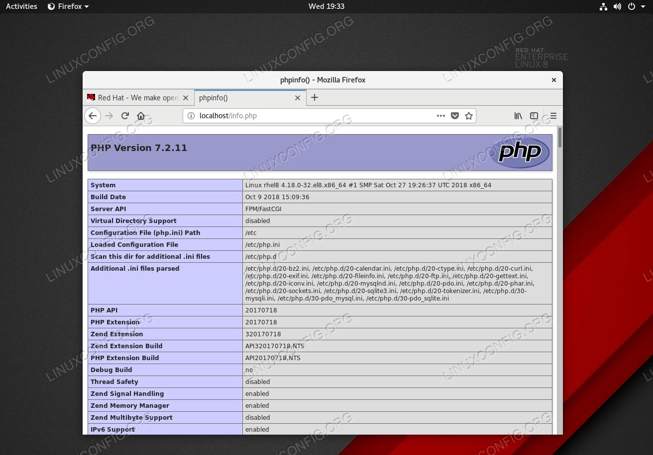 LAMP stack server installation on RHEL 8 / CentOS 8