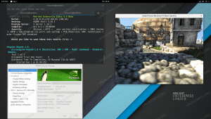 Installed Nvidia drivers on RHEL 8 Linux GNOME Workstation