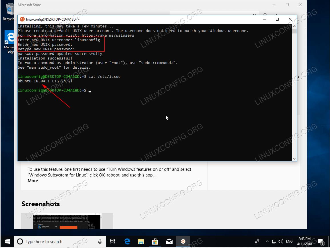 Running Ubuntu 18.04 on Windows 10