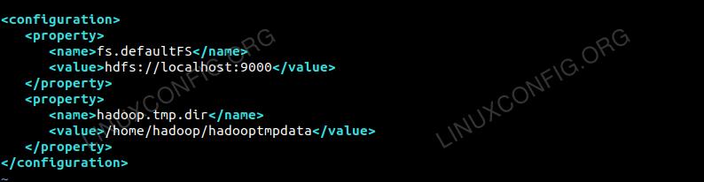 Configuration For core-site.xml File