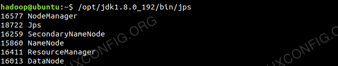 Hadoop Daemons Output from JPS Command