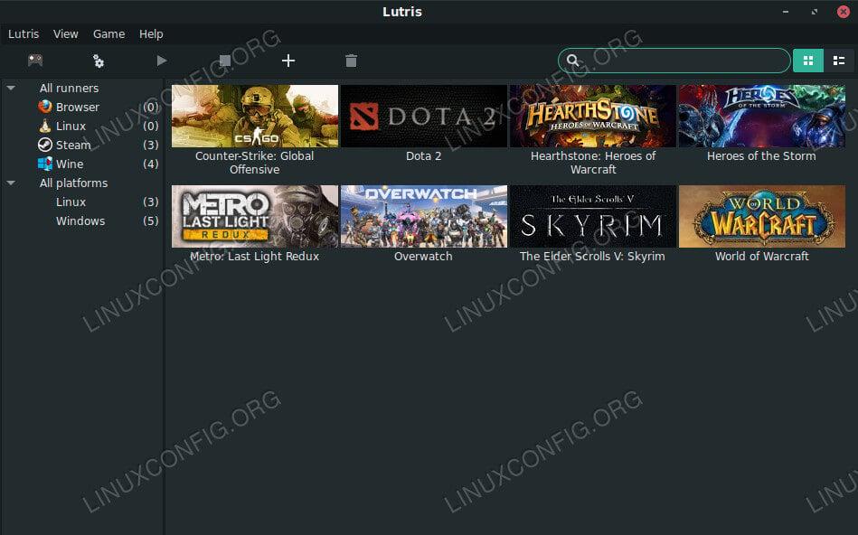 Install Lutris on Debian.