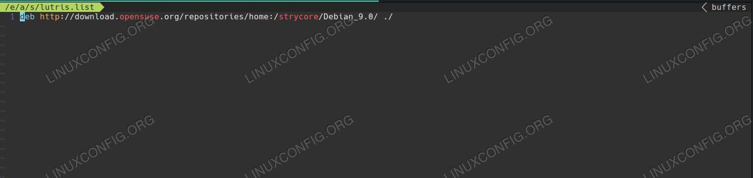 Add the Lutris Repo on Debian