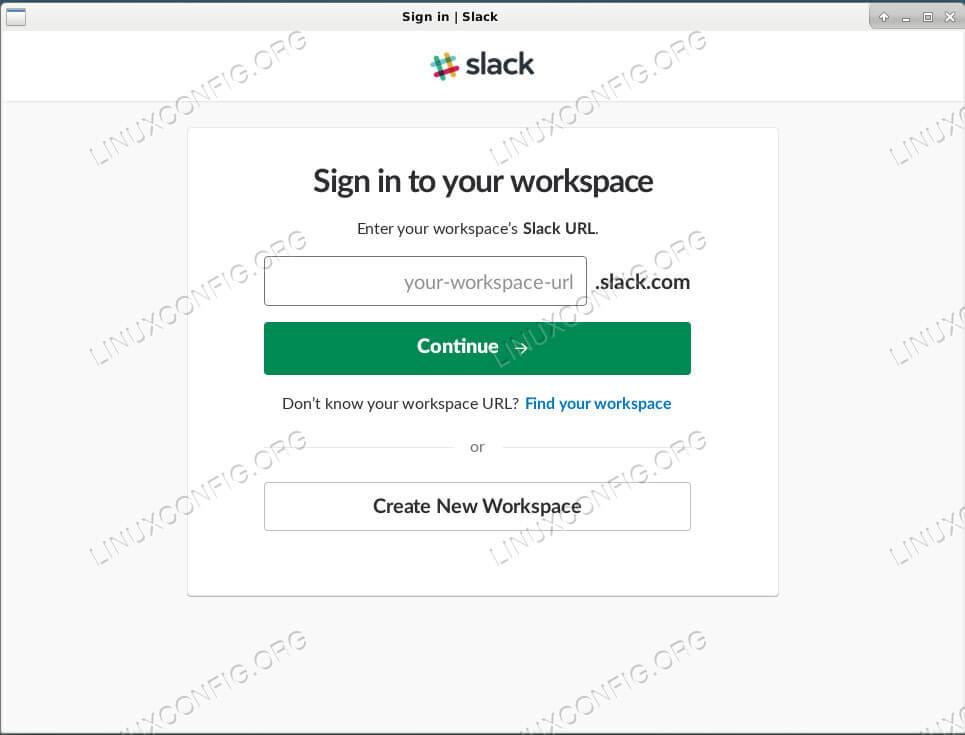Slack Running on Debian