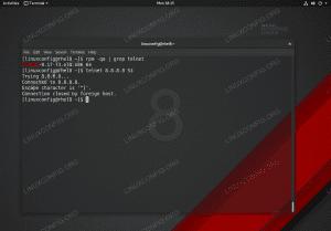 Telnet command on Red Hat Enterprise Linux 8.