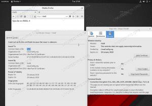 Basic mod_ssl module configuration on RHEL 8 / CentOS 8 with Apache webserver