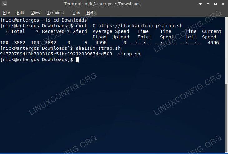 Verify the BlackArch Install Script