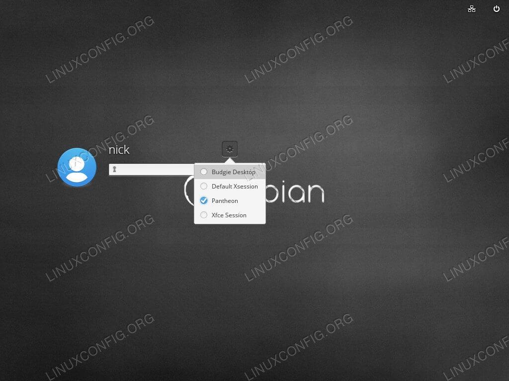 Log in to Pantheon Desktop on Debian