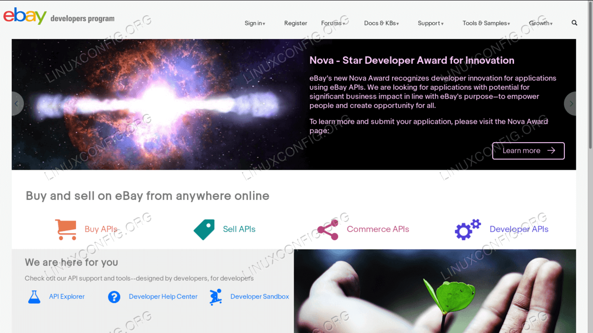 Creating an Ebay developer account
