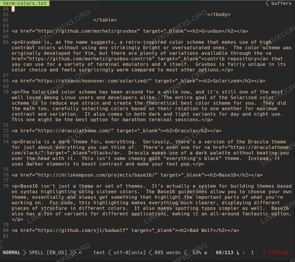 Gruvbox Terminal Color Scheme