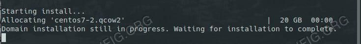 Start a KVM VM on RHEL 8