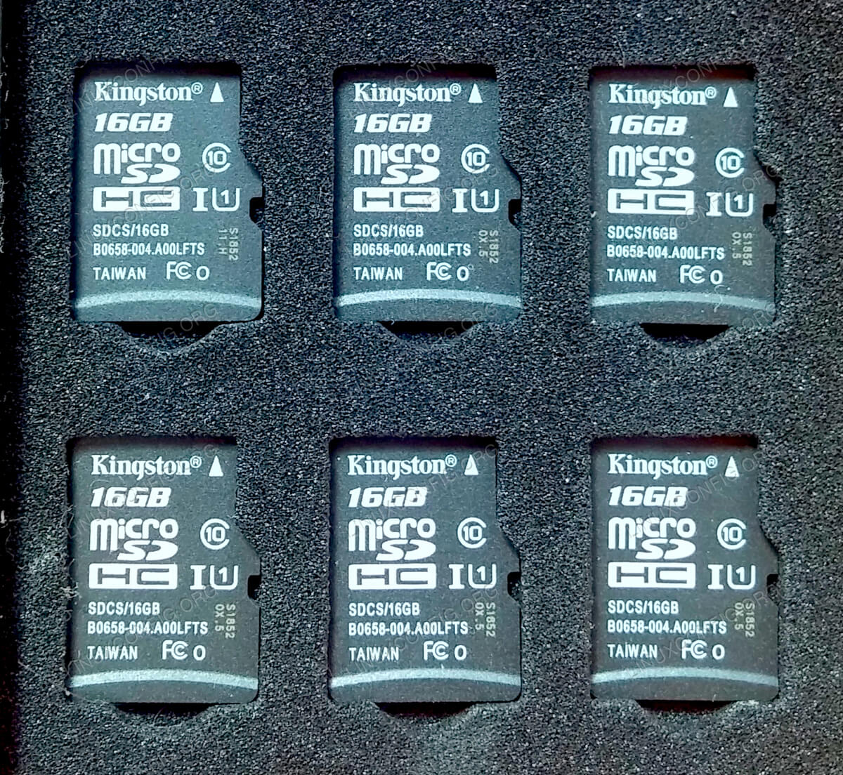 You will need four MicroSD cards, at least 16GB in size