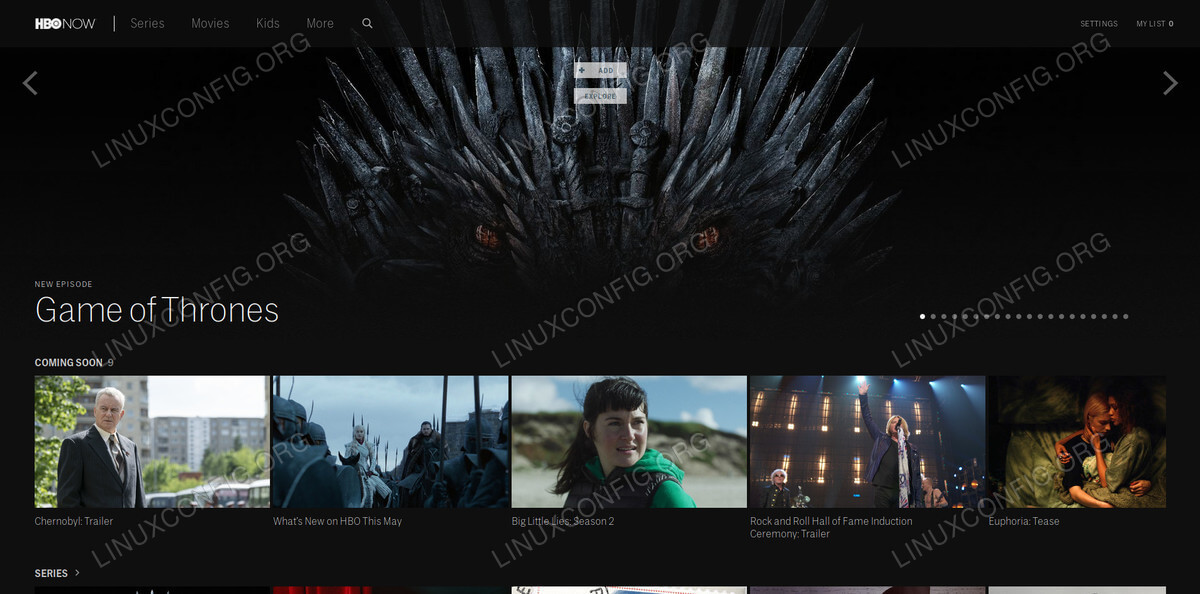 Watch HBO on Linux