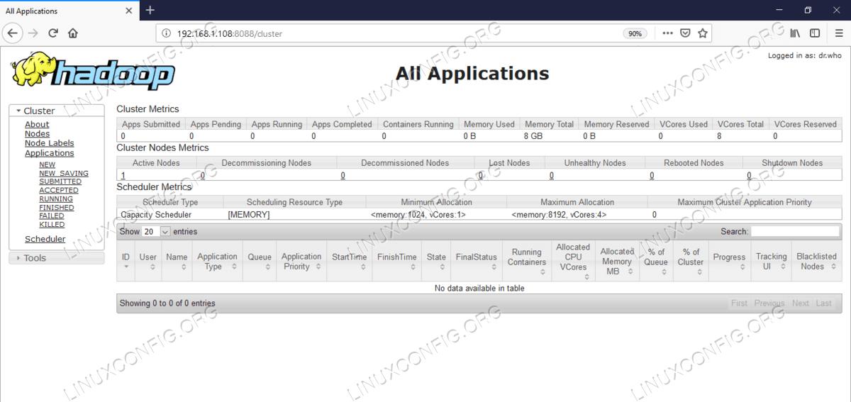 Resource Manager(YARN) Web User Interface